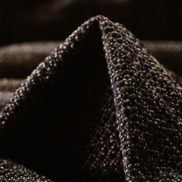 Tweedstoff Baumwolle schwarz beige