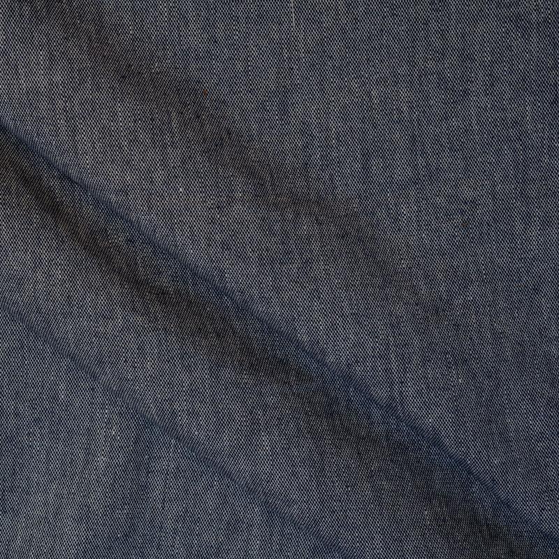 Leinen Stoff dunkelblau und weiß