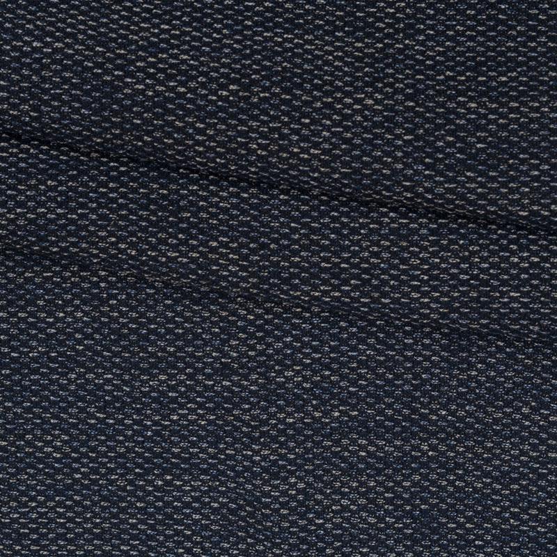 Tweed aus Baumwolle in blau weiß