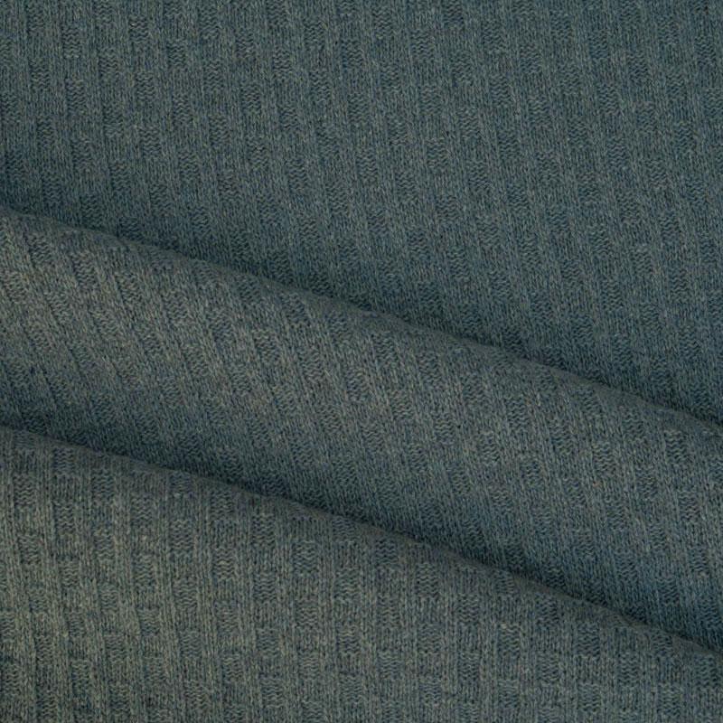 Wollstrickstoff in blau grau