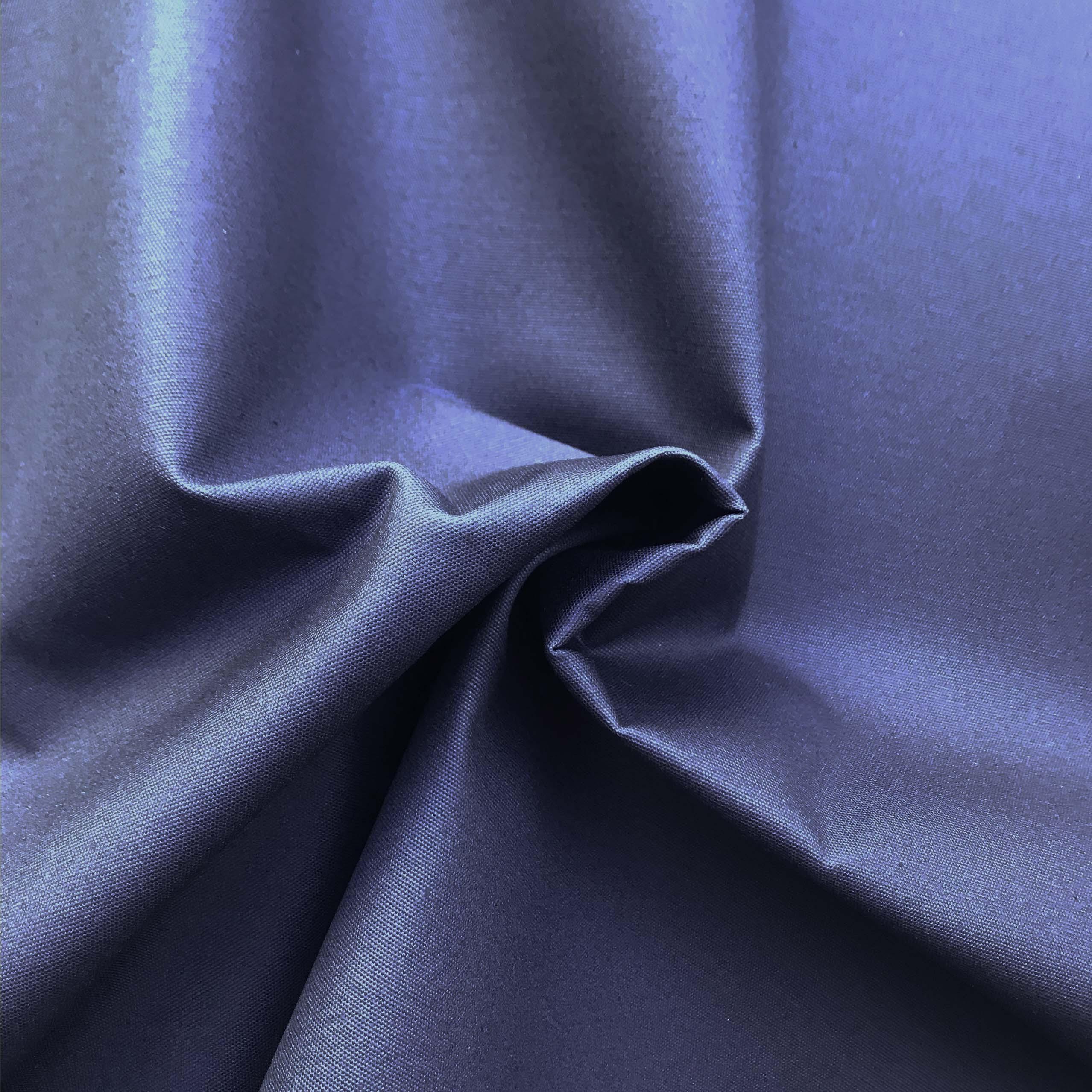 Gewachste Bio Baumwolle Canvas garngefärbt navy