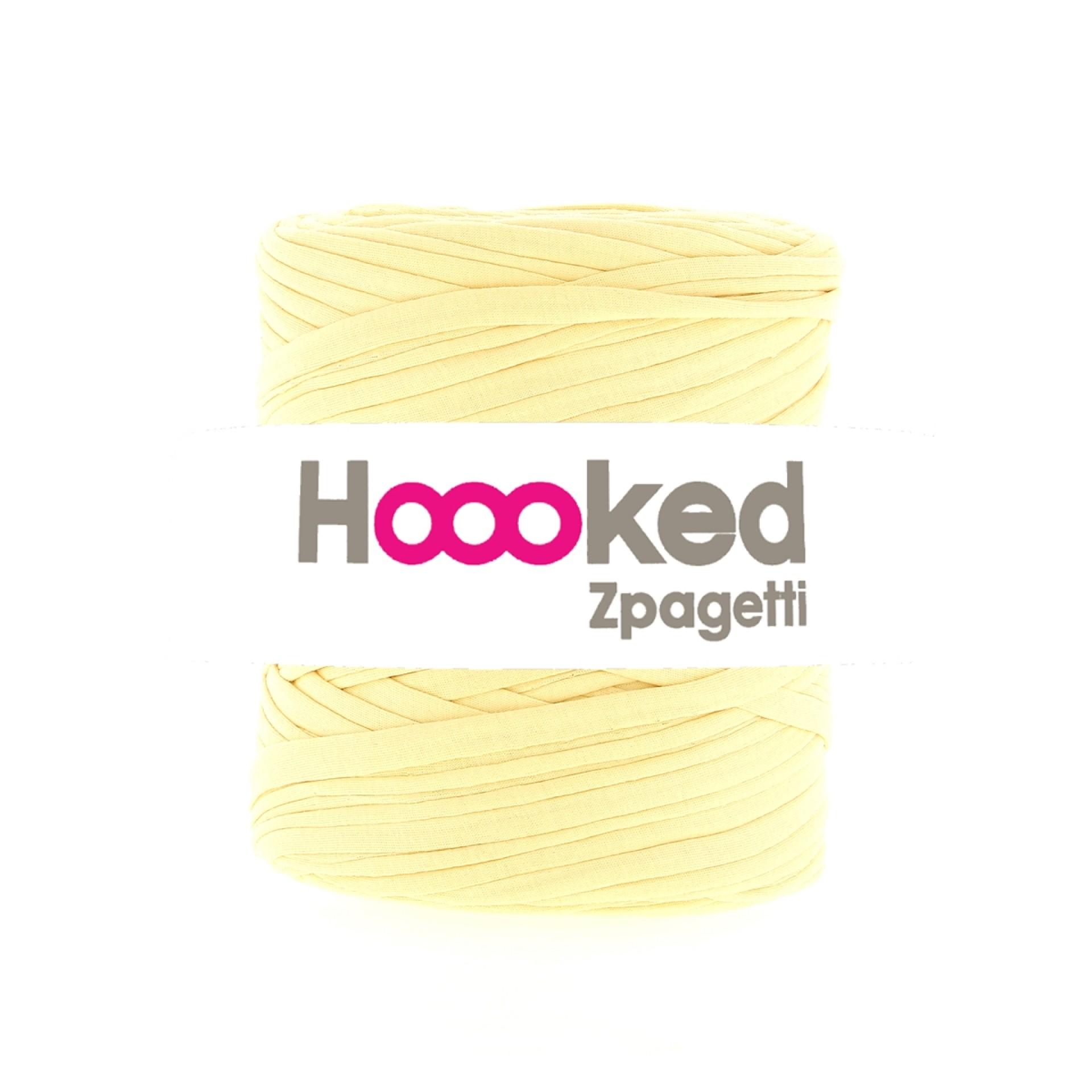 Hoooked Zpagetti Garn vanillle gelb