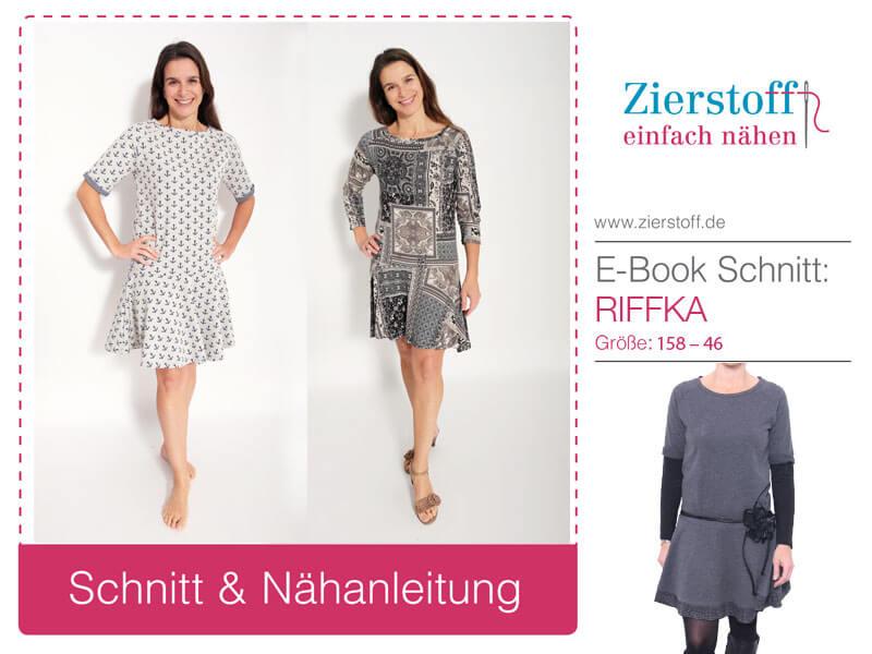 "Kleid, Sweatshirtkleid ""RIFFKA"", Gr. 158 – Damengr. 46"