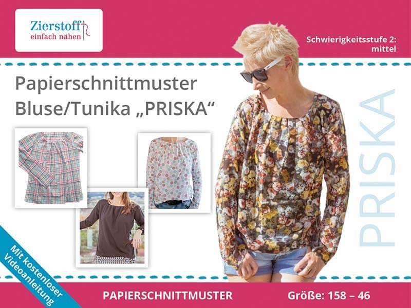 "PAPIERSCHNITTMUSTER, Bluse / Tunika ""PRISKA"""