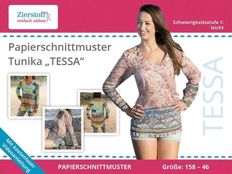 "PAPIERSCHNITTMUSTER, Tunika ""TESSA"""