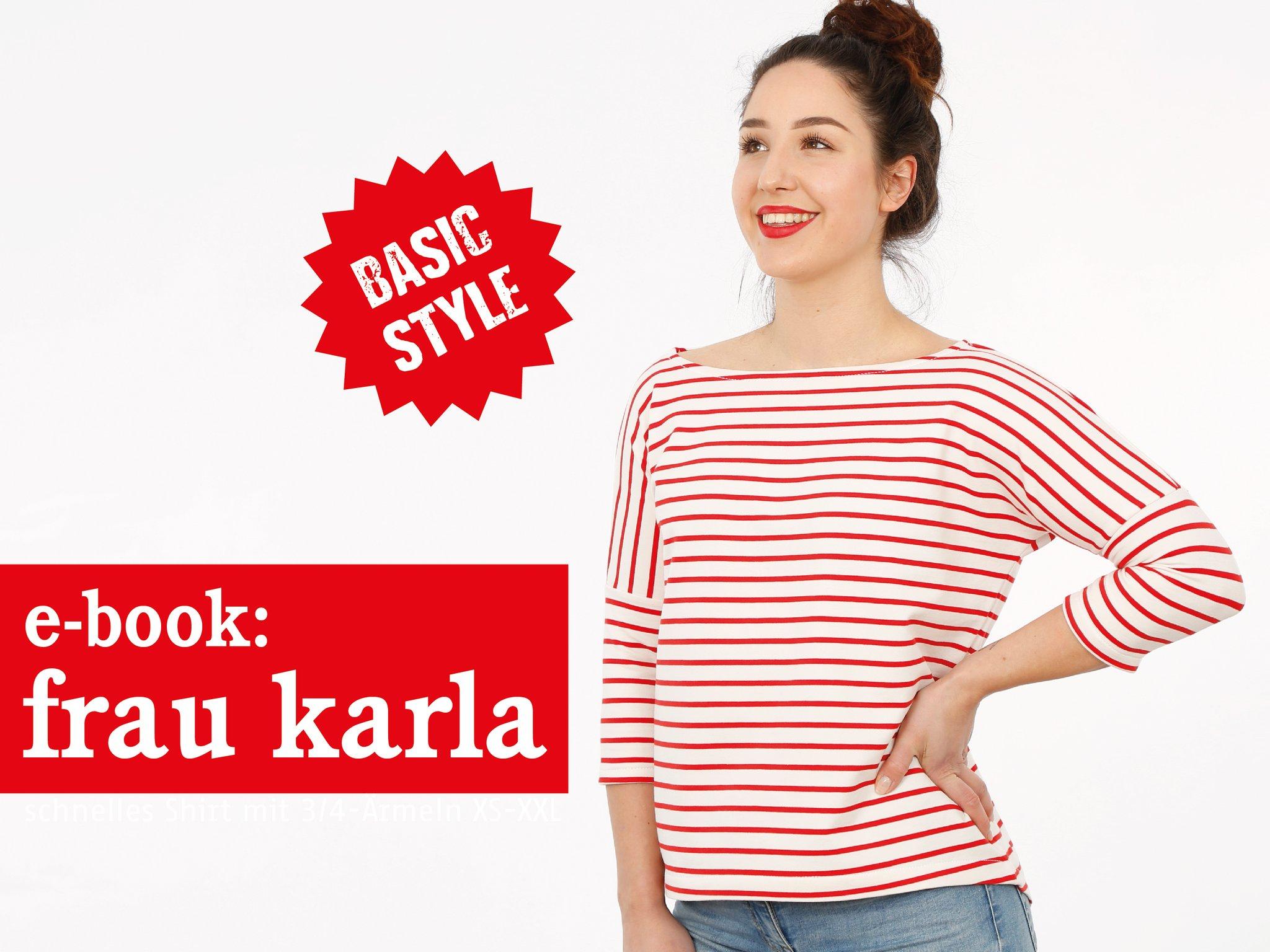 FRAU KARLA • Sommershirt 3/4-Ärmel, e-book