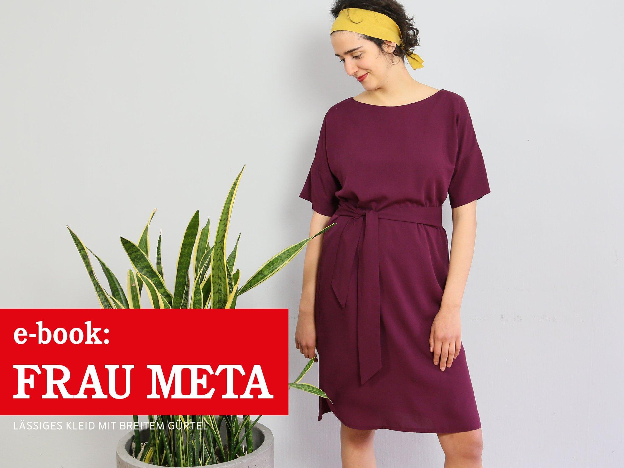 FRAU META • lässiges Kleid mit breitem Gürtel, e-book