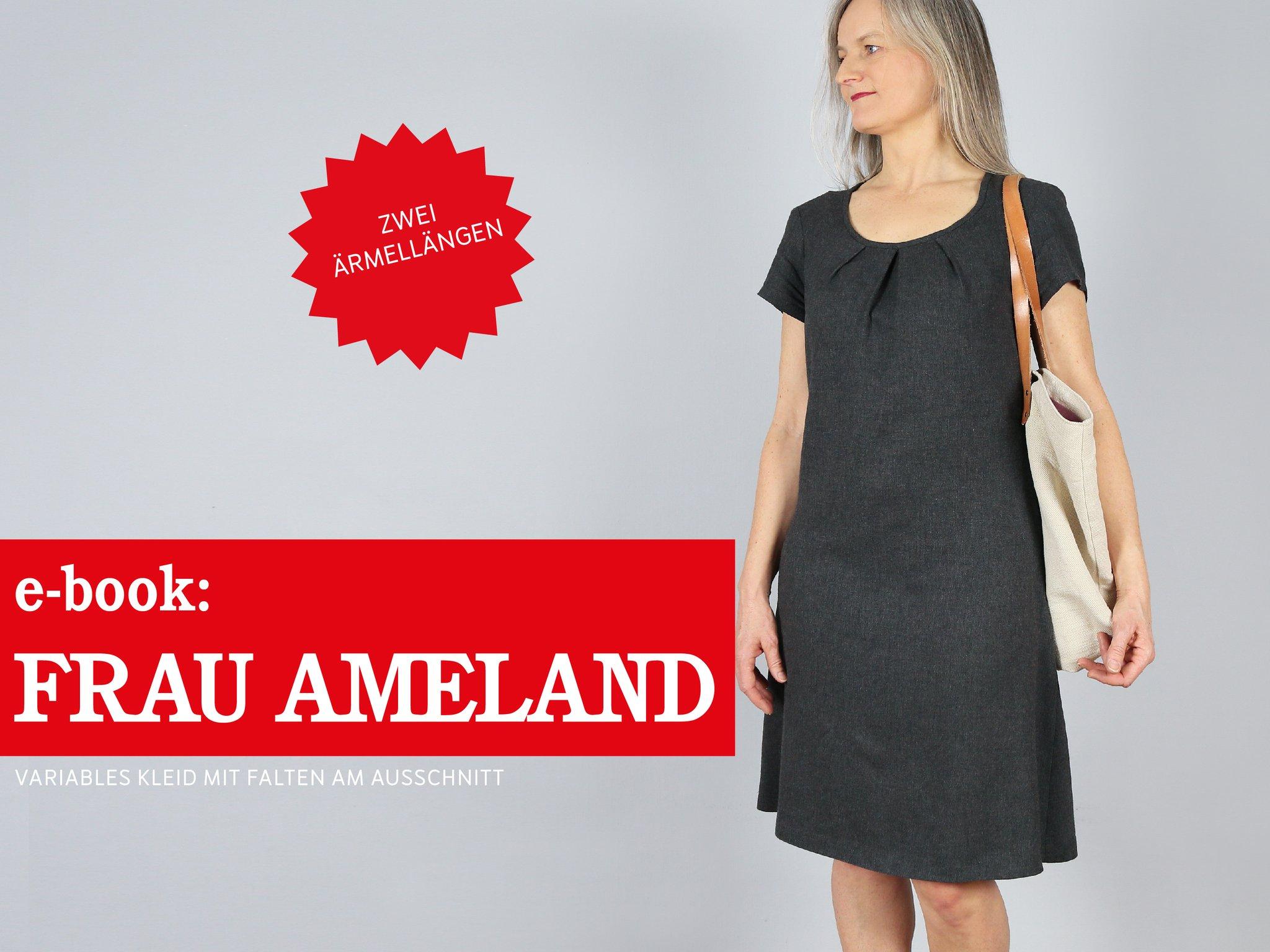 FRAU AMELAND • Kleid mit Falten am Ausschnitt, e-book