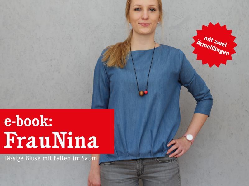 FRAU NINA • Bluse mit Saumfalten, e-book