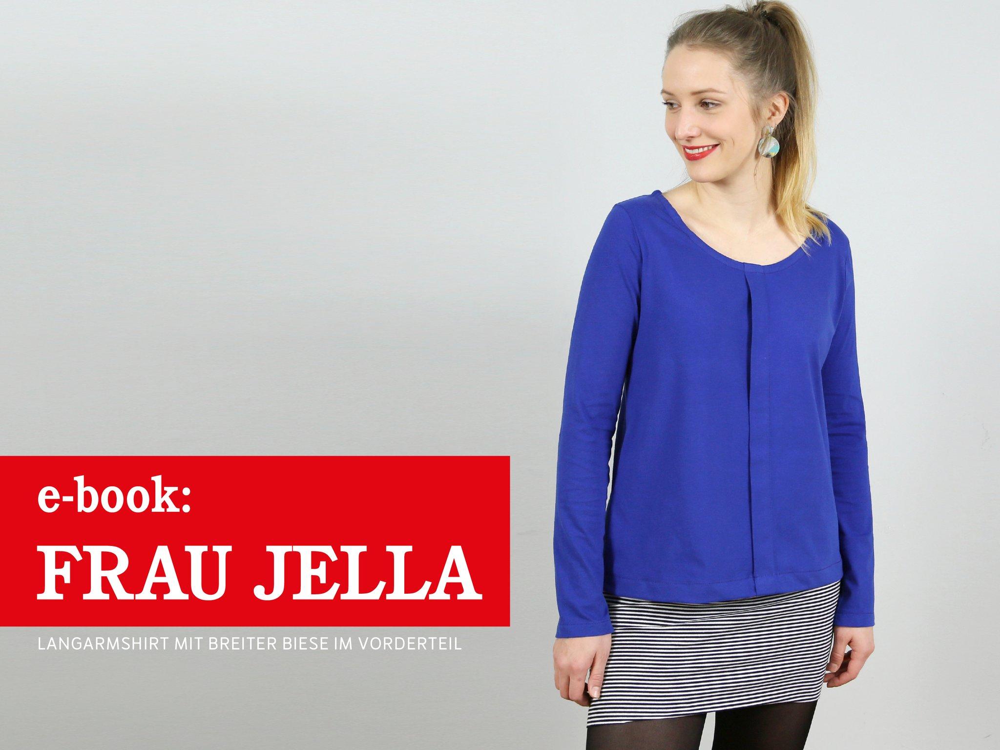 FRAU JELLA • Langarmshirt mit breiter Biese, e-book