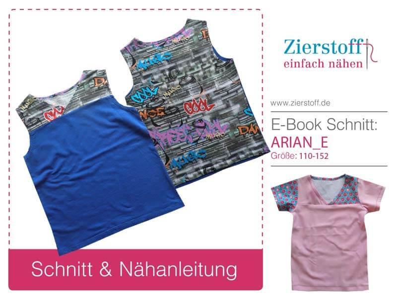 """Shirt """"Arian & Ariane"""", Gr. 110-152, 3 Varianten"""