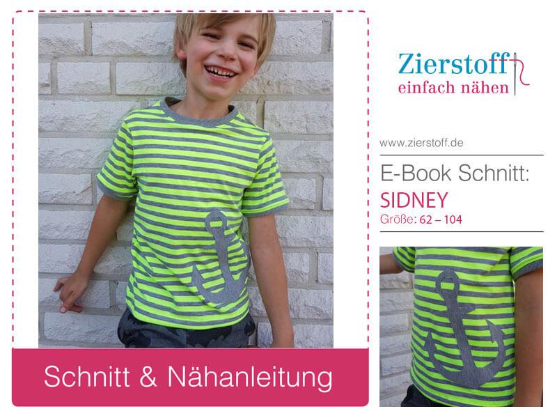 "Shirt ""SIDNEY"", Gr. 62 – 104 inklusive 2 Applikationen"