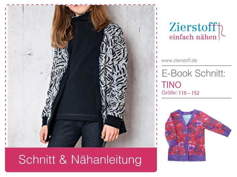 "Sweatshirtjacke ""TINO"", Gr. 110 – 152, unisex"