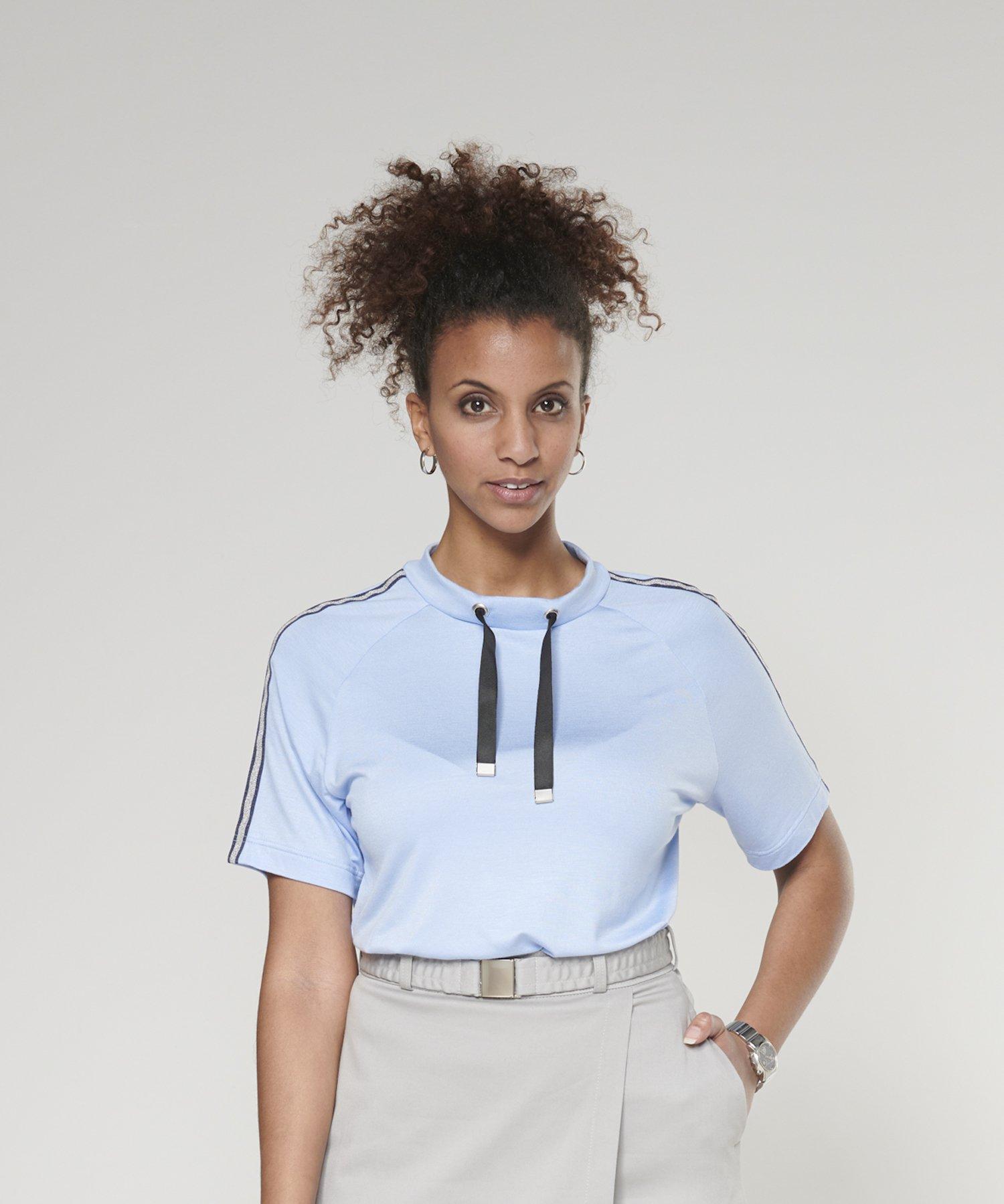 Shirt mit Kordelzug am Kragen, Ebook