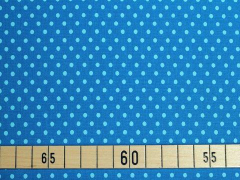 Baumwolle Popeline hellblaue Punkte auf blau