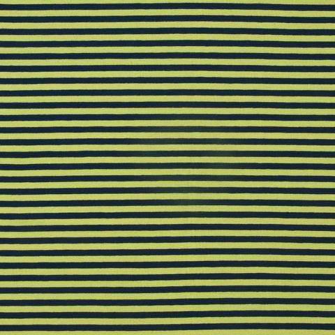 Bio Jersey GOTS Streifen schwarz hellgrün