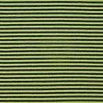 Bio Jersey GOTS Streifen schwarz hellgrün  001