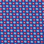 Bio Jersey GOTS kleine Sterne weiß rot auf blau 0,5m 001