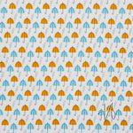 Bio Baumwolle Voile GOTS Regenschirme gelb 0,5m 001