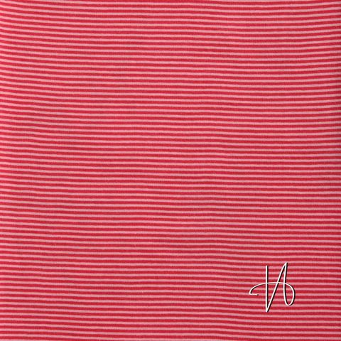 Bio Jersey Schlauchbündchen GOTS Streifen rosa rot