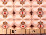 Baumwolle Popeline Retro Muster rosa braun  001