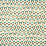 Baumwolle Leinen Canvas japanisch Blumenmuster türkis khaki 0,5m 001