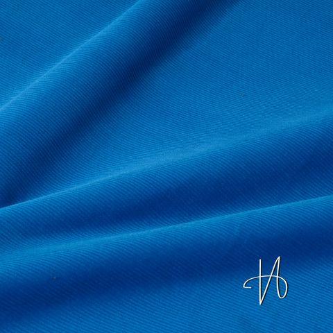 Bio Baumwolle Stretch Kord fein GOTS blau