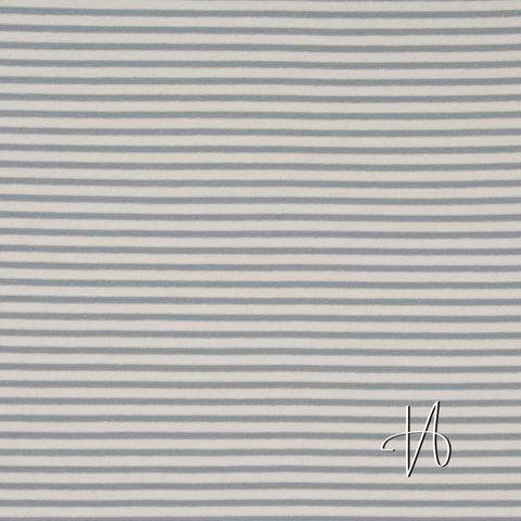 Bio Baumwolle Jersey GOTS Streifen grau weiß
