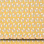 Bio Baumwolle Flanell GOTS Füchse auf gelb  001