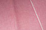 Bio Baumwolle GOTS in Leinenoptik Streifen weiß rosa  001
