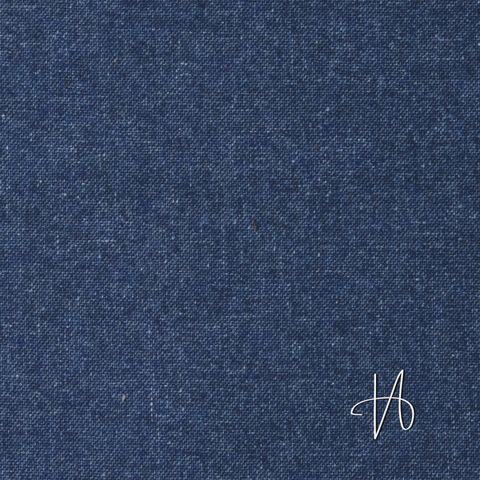 Wollstoff mit Kaschmir Panama blau