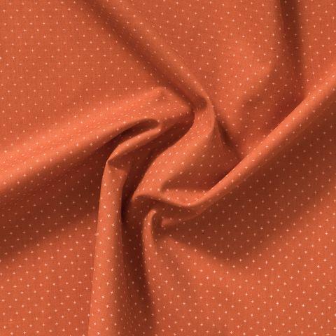 Baumwolle Popeline kleine rosa Kreuze auf orange