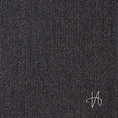 Wollstoff Anzugstoff Streifen dunkelblau schwarz beige