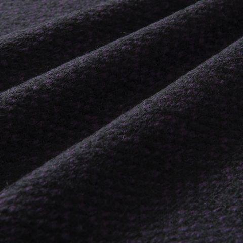 Wollstoff Panama schwarz lila gemustert