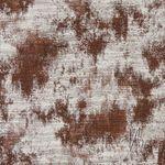 Baumwolle Lurex Jacquard Rost kupfer creme weiß  001