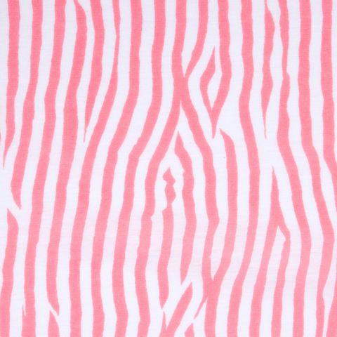 Baumwolle Jersey Animalprint Zebra rosa weiß