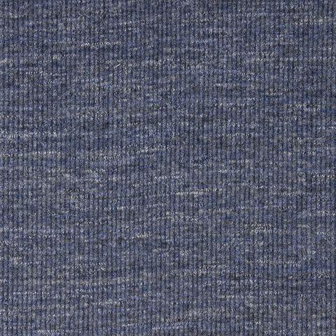 Baumwolle Jersey Rib blau hellgrau meliert