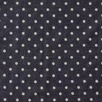 Baumwolle Batist weiße Punkte auf dunkelgrau  001