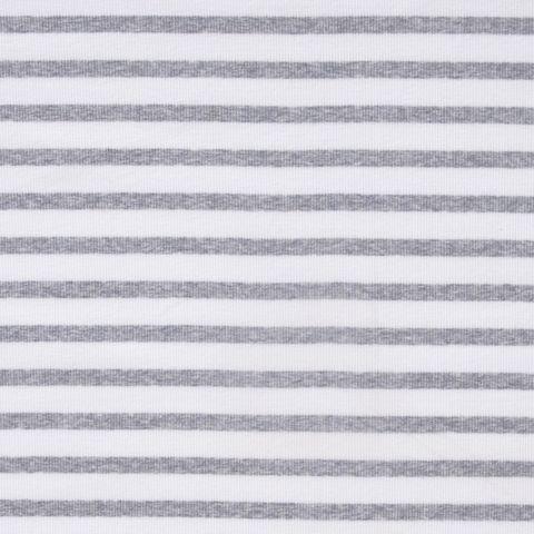 Baumwolle Rib Jersey Streifen in grau und weiß