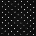 Viskose Jersey schwarz mit weißen Sternen  001