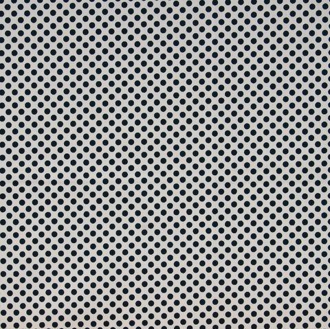 Baumwolle Popeline kleine schwarze Punkte auf weiß