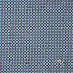 Weiche Baumwolle, Popeline hellblaue Punkte auf braun  001