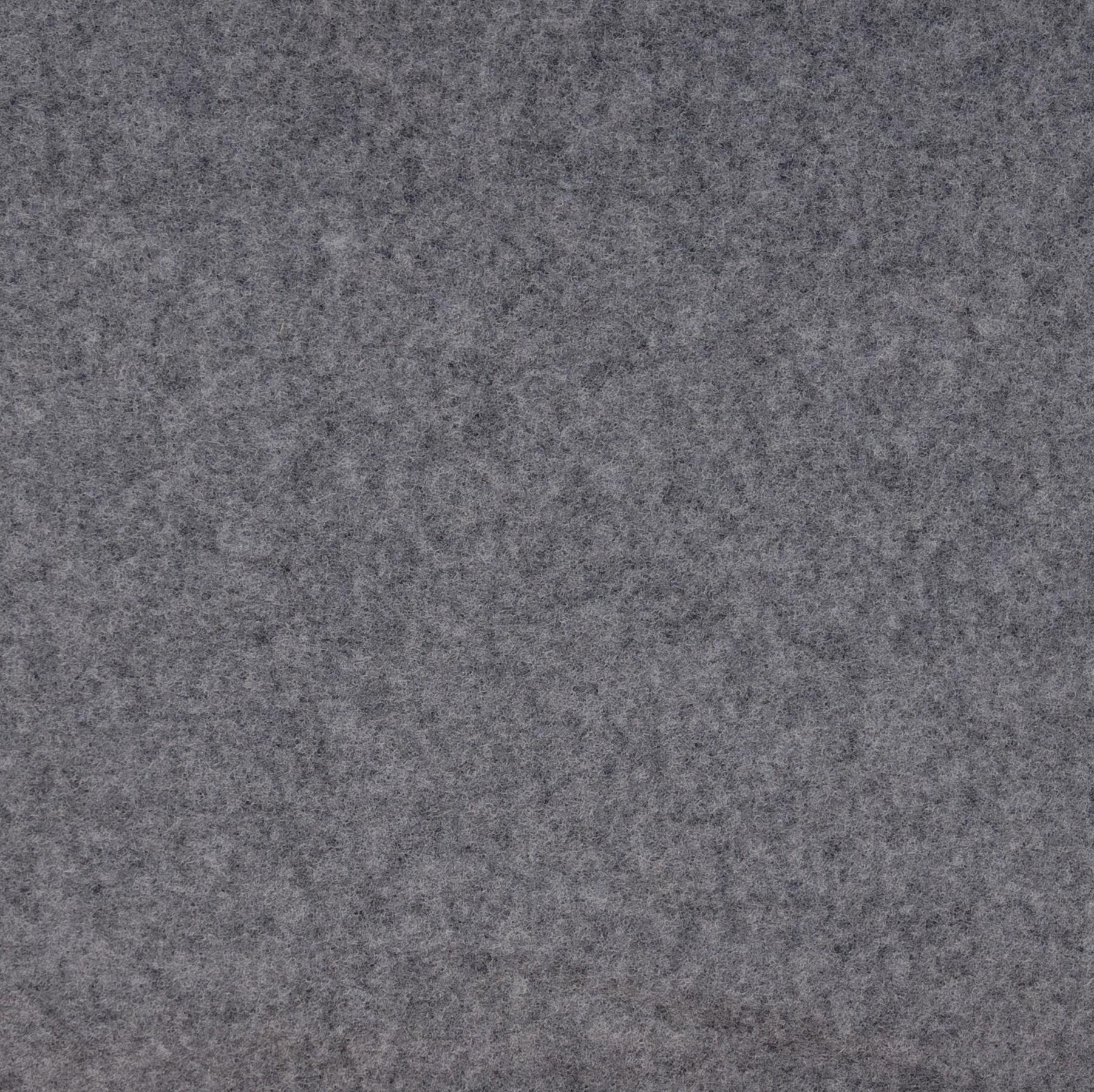 Wollfleece GOTS in grau meliert