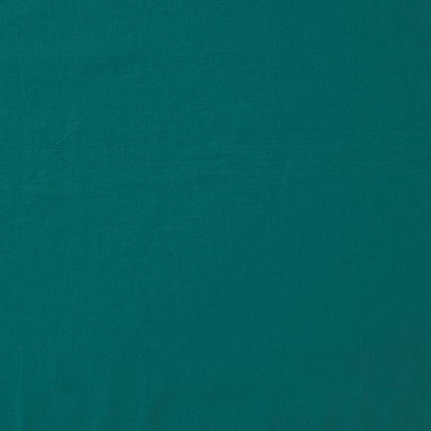 Leichter Baumwoll Batist (GOTS) in petrol grün 0,5m