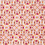 Bio Baumwolle GOTS Batist mit grafischem Muster in orange  001
