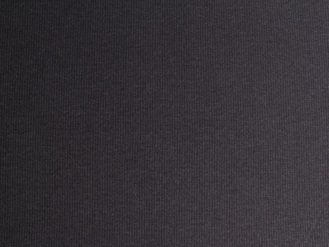 Bio Baumwolle 1x1 Rib Bündchen GOTS in schwarz
