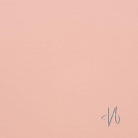 Bio Baumwolle Jersey GOTS uni pfirsich rosa