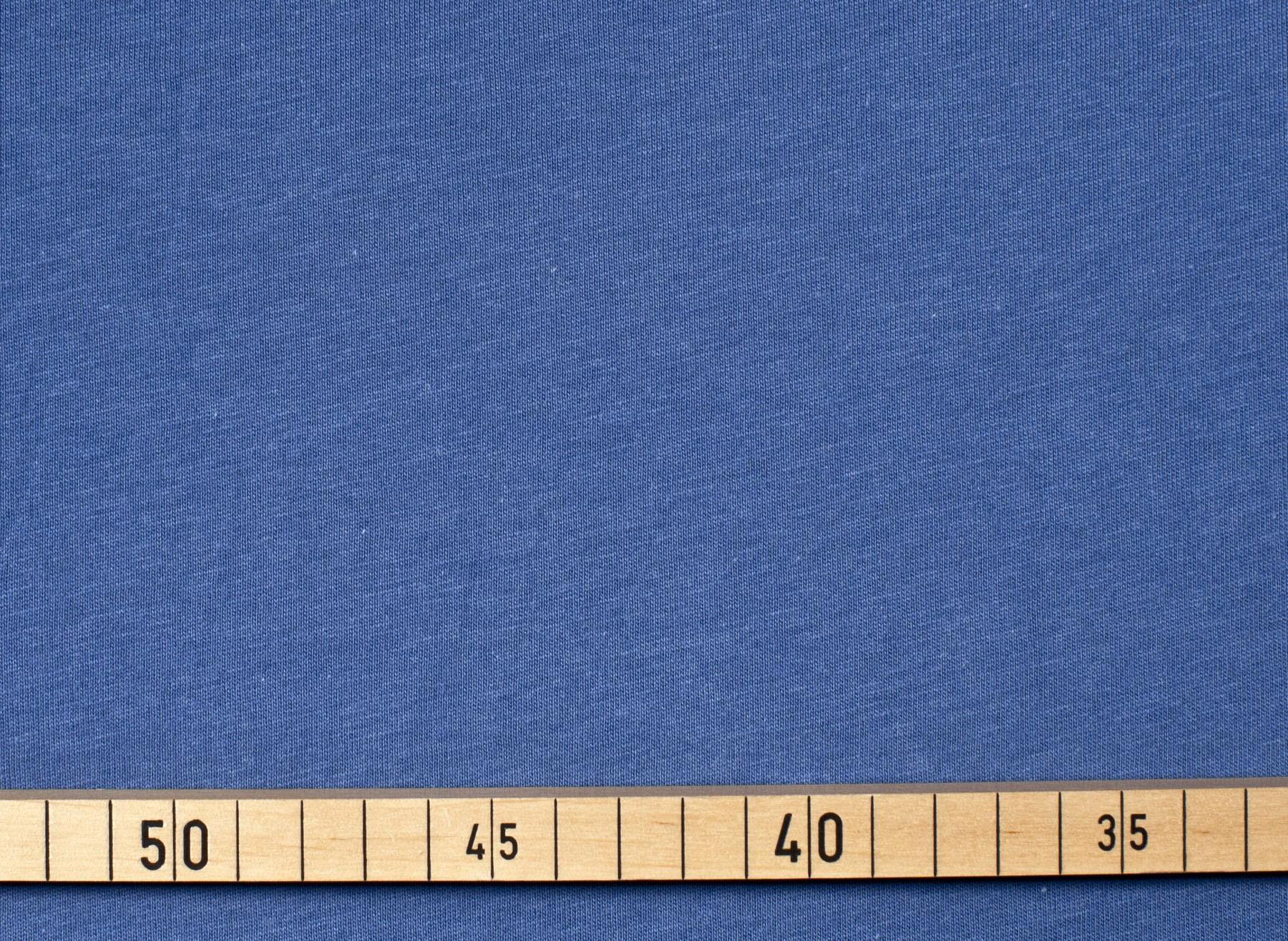 Bio Baumwolle Jersey blau uni