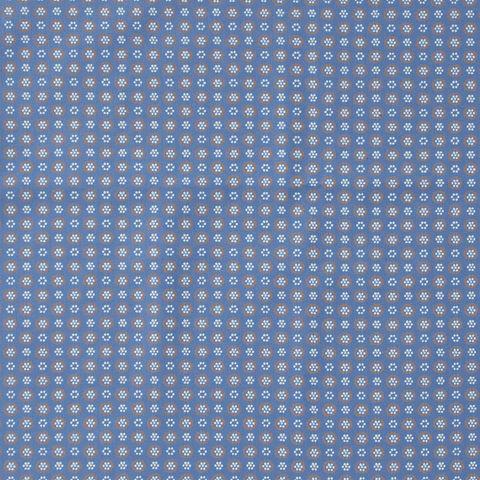 Bio Baumwolle Popeline GOTS Blümchen auf blau 0,5m