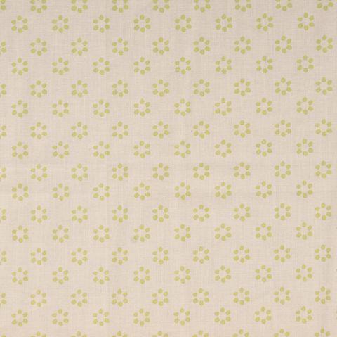 Bio Baumwolle Popeline GOTS Blumen auf beige 0,5m